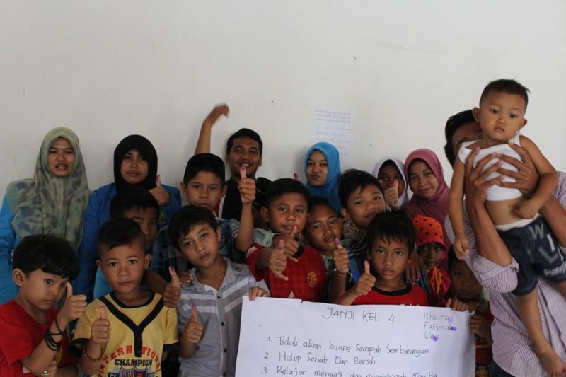 Foto | Vopis Hibur Anak-anak Korban Banjir Aceh Utara