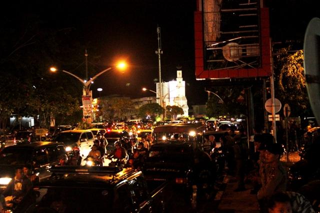 Foto | Suasana Malam Tahun Baru di Pusat Kota Banda Aceh