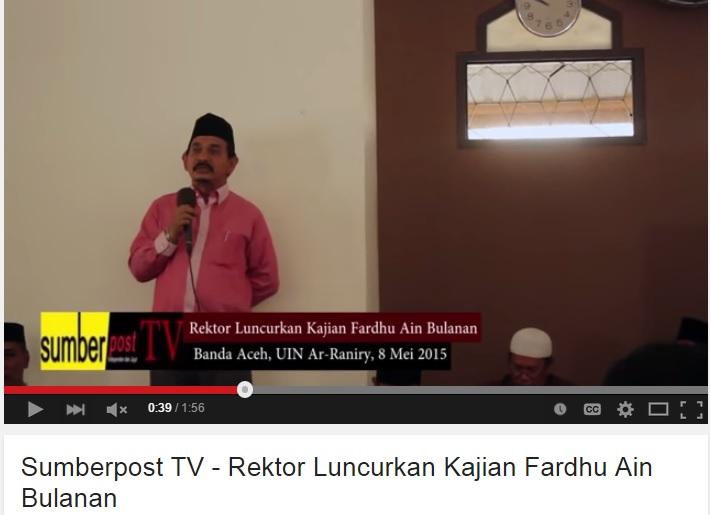 SUMBERPOST TV – Rektor Luncurkan Kajian Fardhu Ain Bulanan