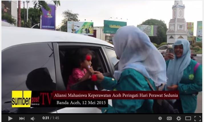 Sumberpost TV – Mahasiswa Keperawatan Aceh Peringati Hari Perawat Sedunia