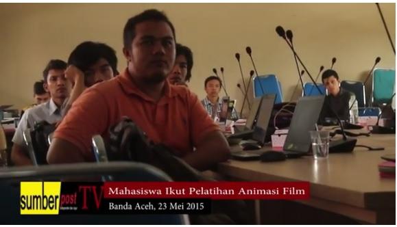 SUMBERPOST TV | Mahasiswa UIN Ikut Pelatihan Film Animasi