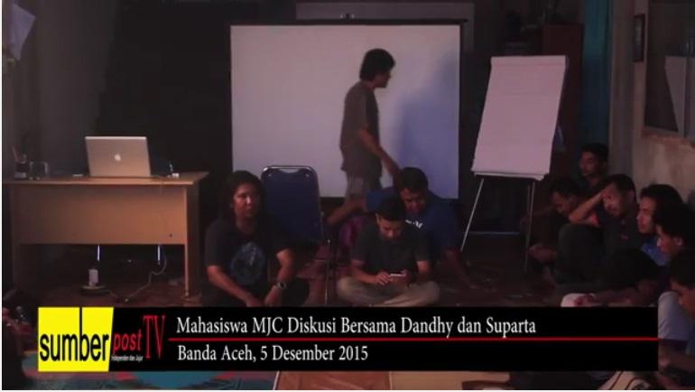 Sumberpost TV | Mahasiswa MJC Diskusi Bersama Dhandy dan Suparta