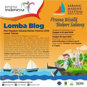 Dibudpar Aceh Gelar Sabang Marine Blogging Competition