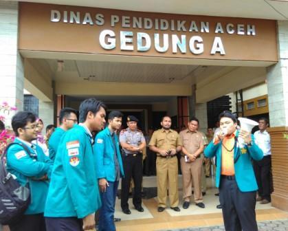 aksi mahasiswa unsyiah, dinas pendidikan aceh