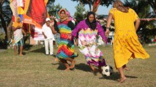 olahraga, sepakbola, daster, perempuan, aceh. Foto Hadi