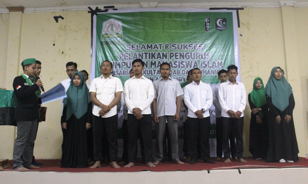 Pengurus HMI Komisariat Fakultas Adab Dilantik