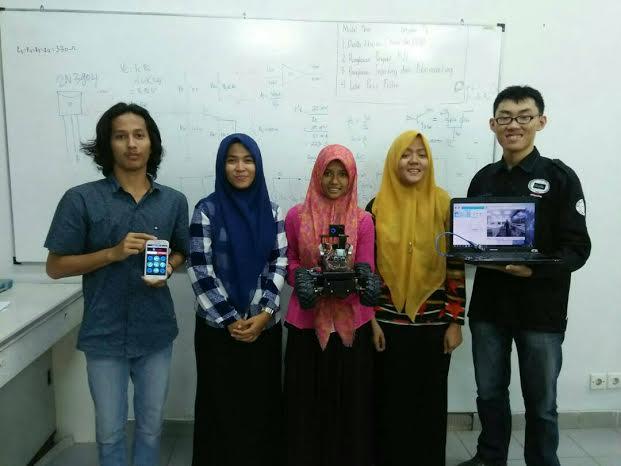 Mahasiswa Unsyiah Ciptakan Robot Deteksi Korban Bencana