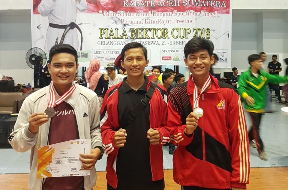 Karateka UIN Ar-Raniry Boyong 2 Mendali pada Piala Rektor Unsyiah
