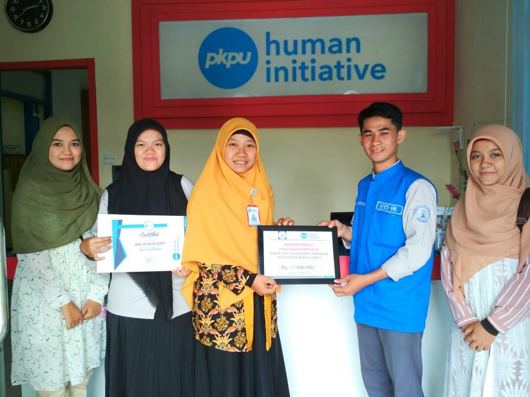 HMP-HK UIN Ar-Raniry Salurkan Bantuan untuk Gempa dan Tsunami Donggala-Palu