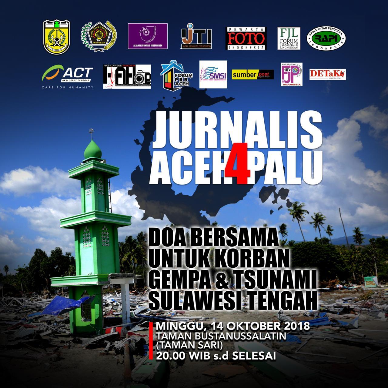Nanti Malam, Jurnalis Aceh Gelar Malam Amal untuk Palu