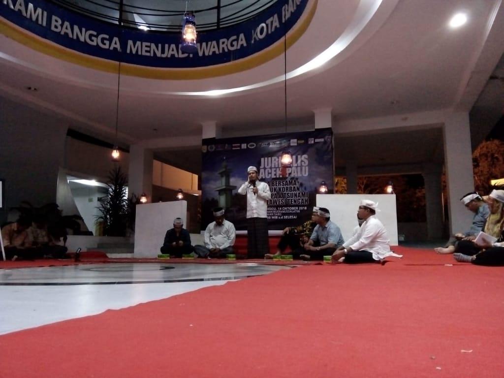 Doa Bersama dan Lelang Foto Jurnalis Aceh untuk Sulteng