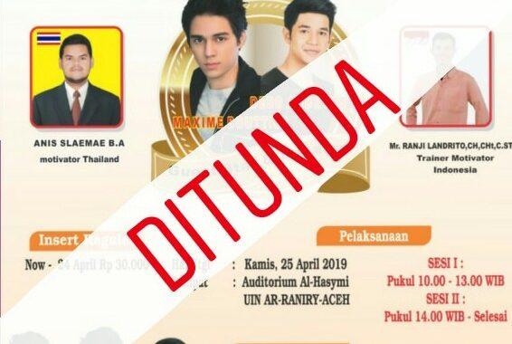 Maxime Bouttier dan Debo Andryos Batal Hadir pada Seminar Internasional di Aceh